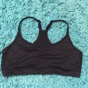 Black aerie racerback sports bra with mesh sides